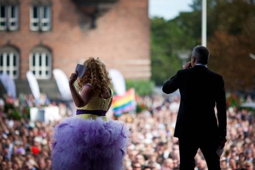 Audrey Castañeda and Dan Rachlin at Copenhagen Pride 2009. Photo Magnus Arrevad