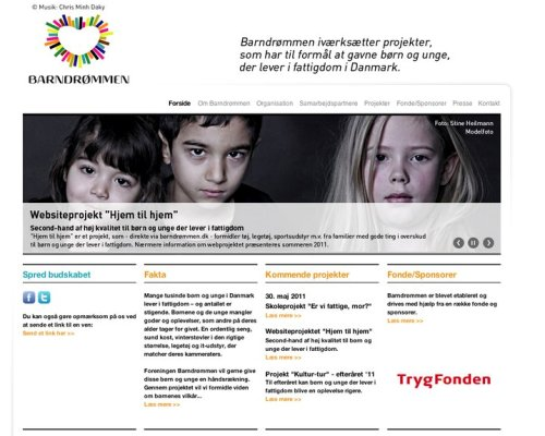 """Thousands of children and youths live in poverty in Denmark – and the number is rising,"" says Dorthe Foged, Founder and Daily manager of the voluntary, non-profit organization, Barndrømmen (Child's Dream)."