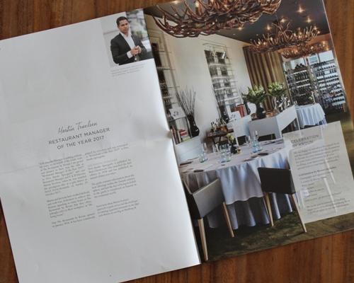 Kurhotel Skodsborg yoga restaurant in-house paper